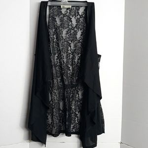 Harve Benard long vintage lace vest